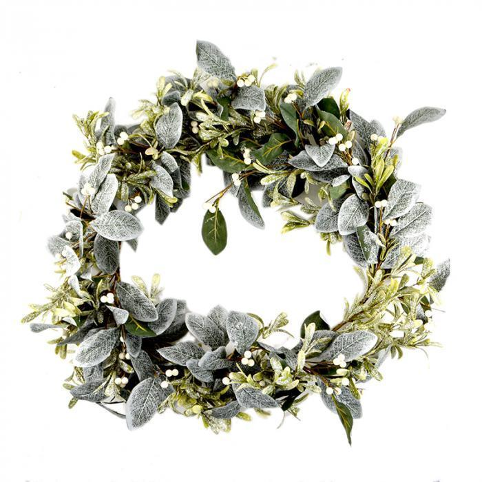 Glitter Mistletoe Wreath - My Christmas