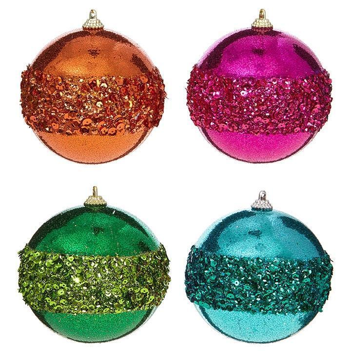 Glittered Ball Ornament - My Christmas
