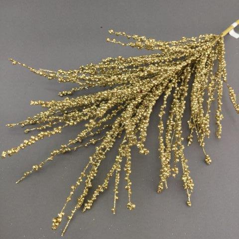 Gold Beaded Spray - My Christmas
