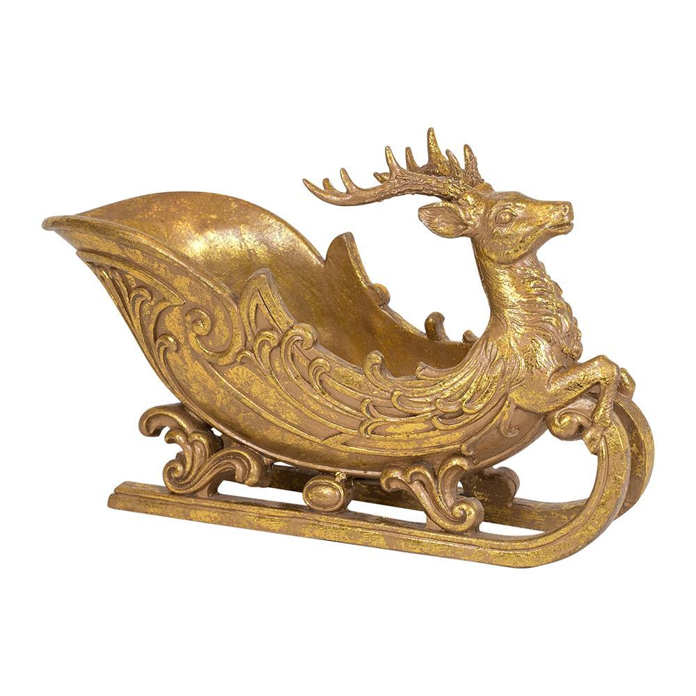 Gold Deer Sleigh, Small - My Christmas
