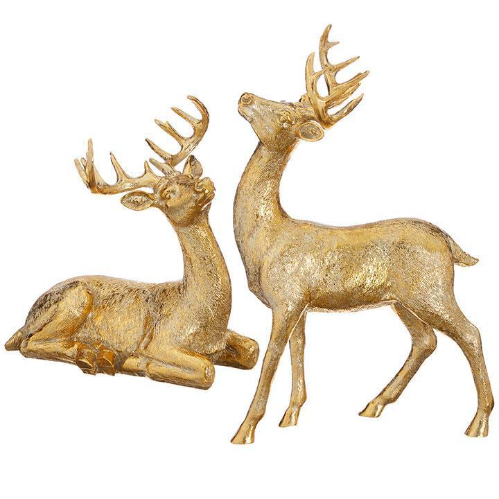 Gold Free Standing Deer - My Christmas
