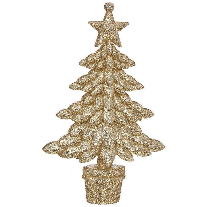 Gold Glittered Tree Ornament - My Christmas