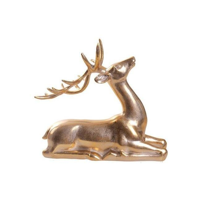 Gold Laying Deer - My Christmas
