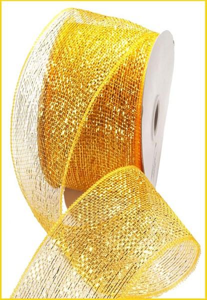 Gold Mesh Ribbon - My Christmas