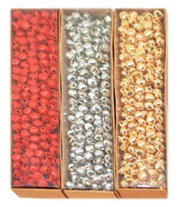 Gold, Silver & Red Mini Bells - My Christmas