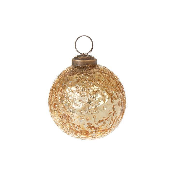 Gold Textured Bauble Ornament, 7.5cm - My Christmas
