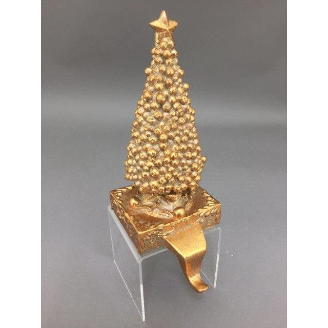 Gold Tree Stocking Holder - My Christmas