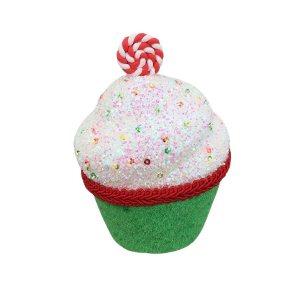 Green Candy Cupcake - My Christmas