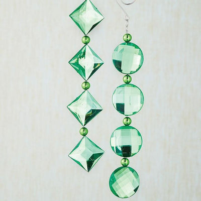 Green Crystal Drop Ornament - My Christmas