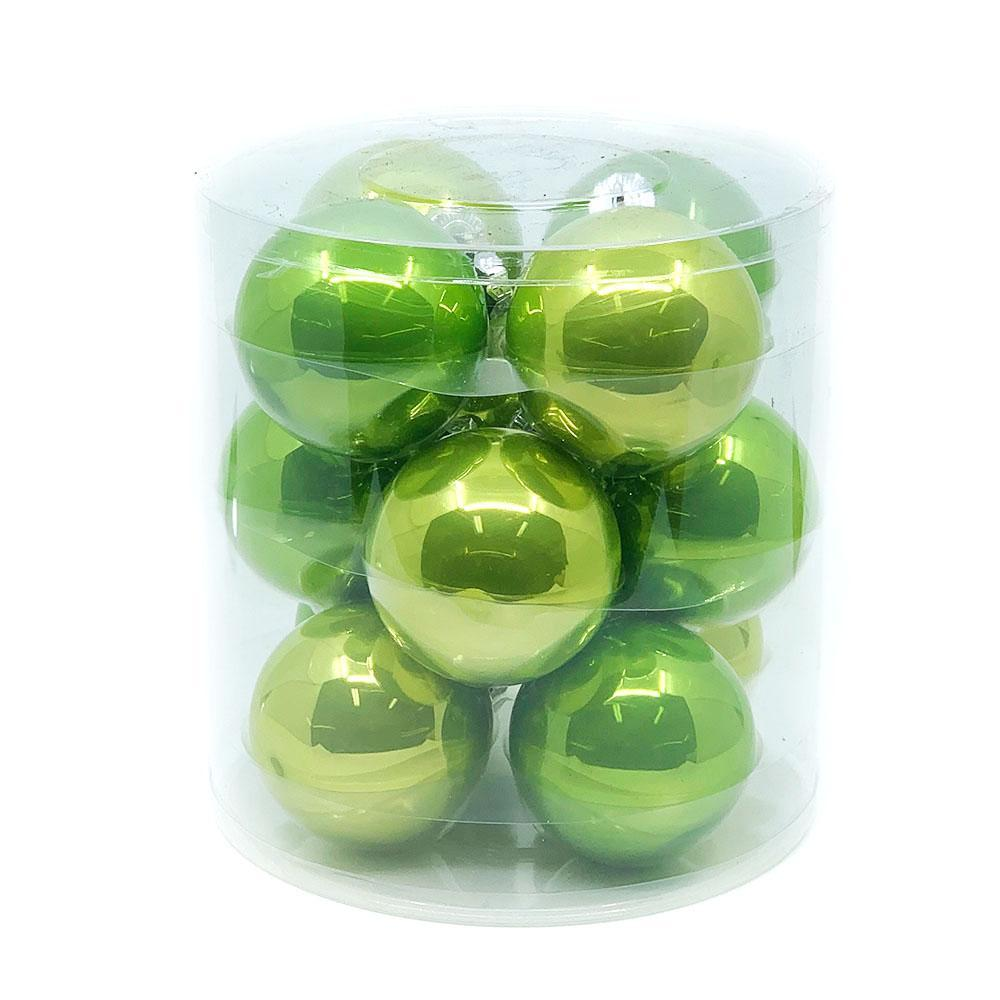 Green Glass Baubles, Various Sizes - My Christmas