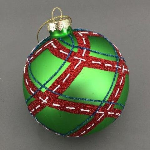 Green Stitched Ball - My Christmas