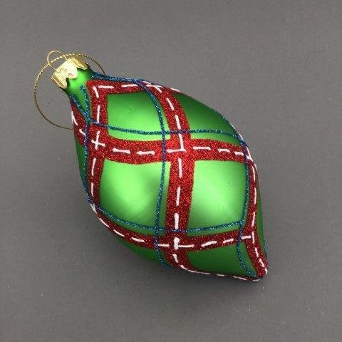 Green Stitched Finial - My Christmas