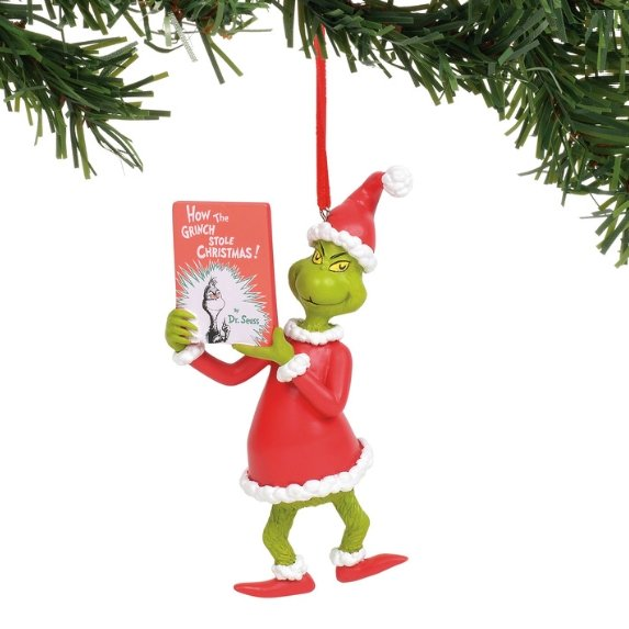 Grinch With book - My Christmas