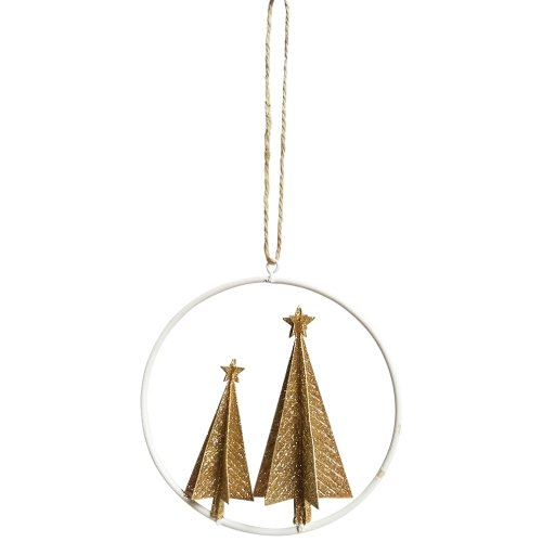 Hanging Circle With Tree Ornament - My Christmas