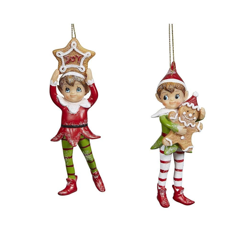 Hanging Gingerbread Elves - My Christmas