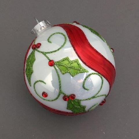Holly Swirl Ball - My Christmas