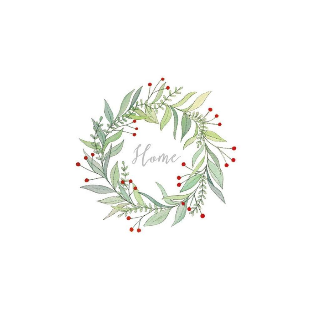 Home Wreath Napkin - My Christmas