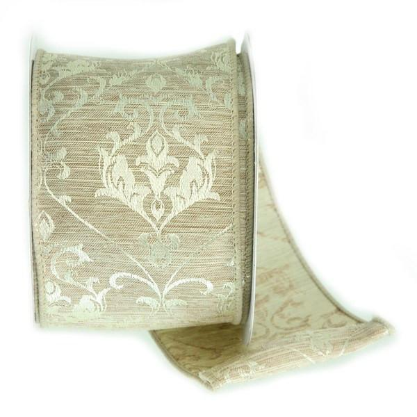 Ivory Tapestry Ribbon - My Christmas