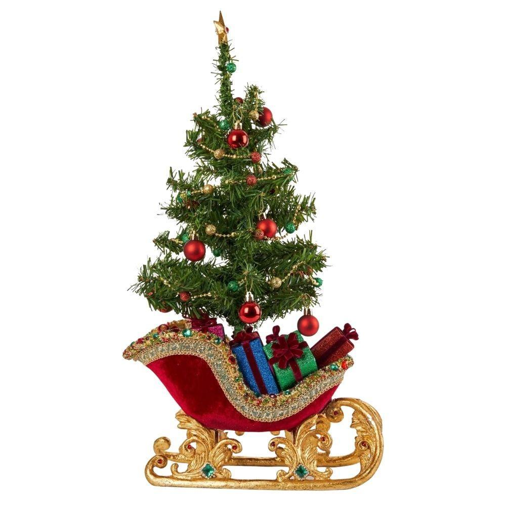 Jewelled Sleigh with Tree - My Christmas