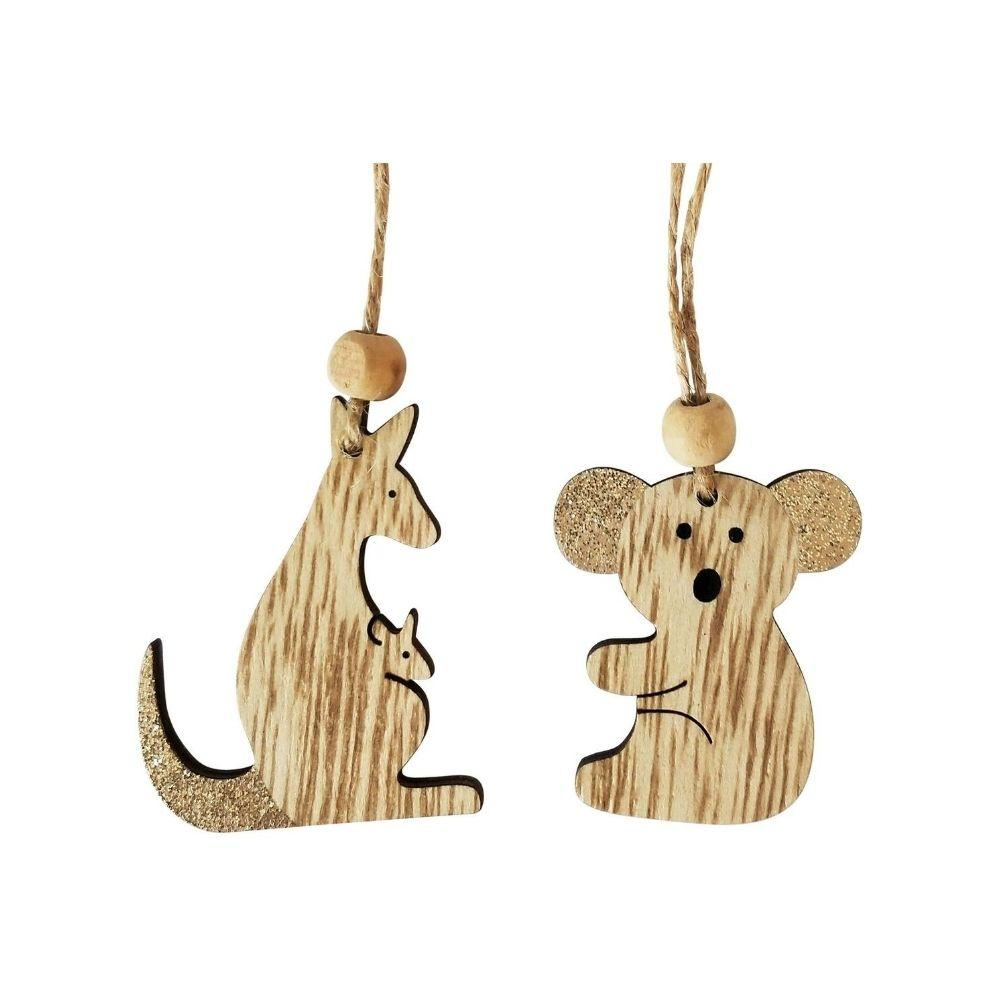 Koala or Kangaroo Wooden Hanging Ornament - My Christmas