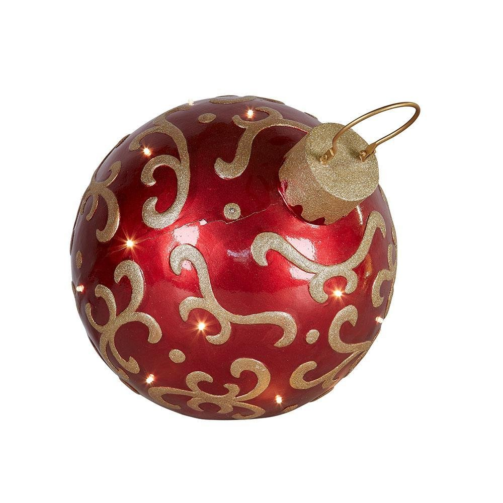 LED Red Large Bauble - My Christmas