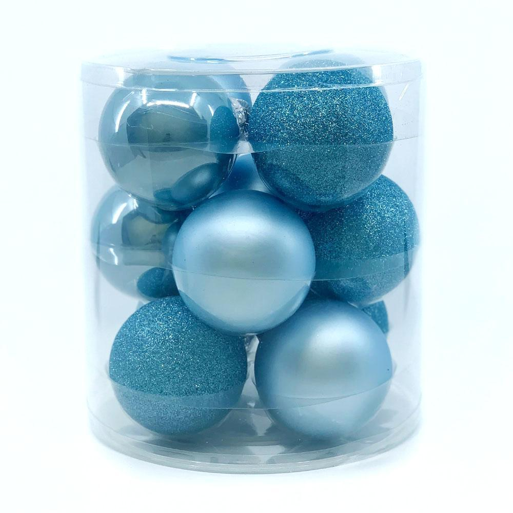 Light Blue Glass Bauble Pack, Various Sizes - My Christmas