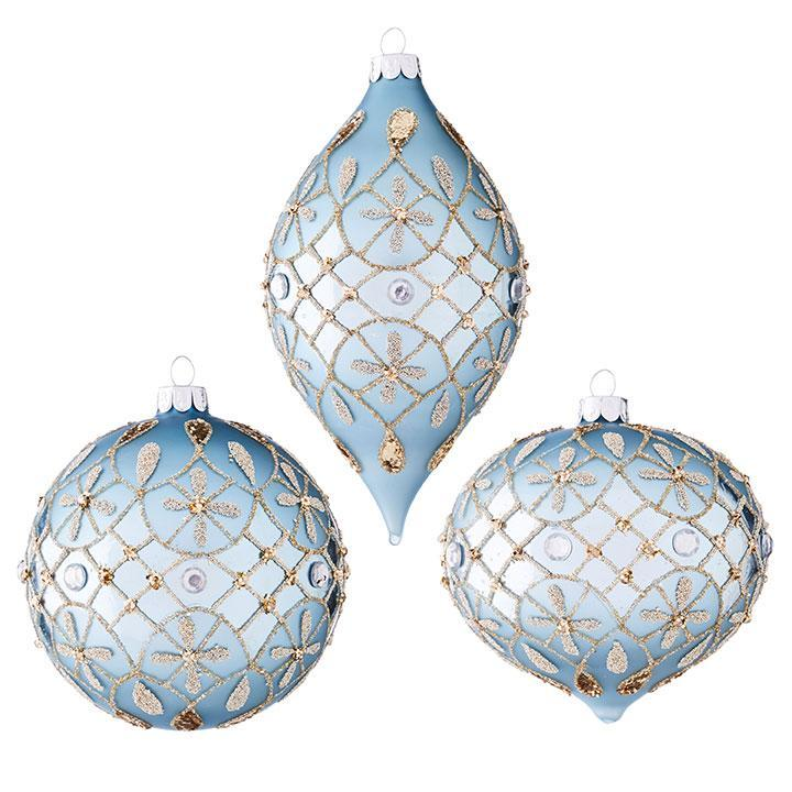 Light Blue JewelOornament - My Christmas