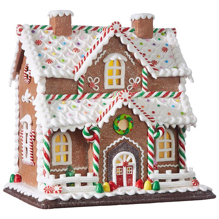 Light Up Gingerbread House, approx 31cm - My Christmas