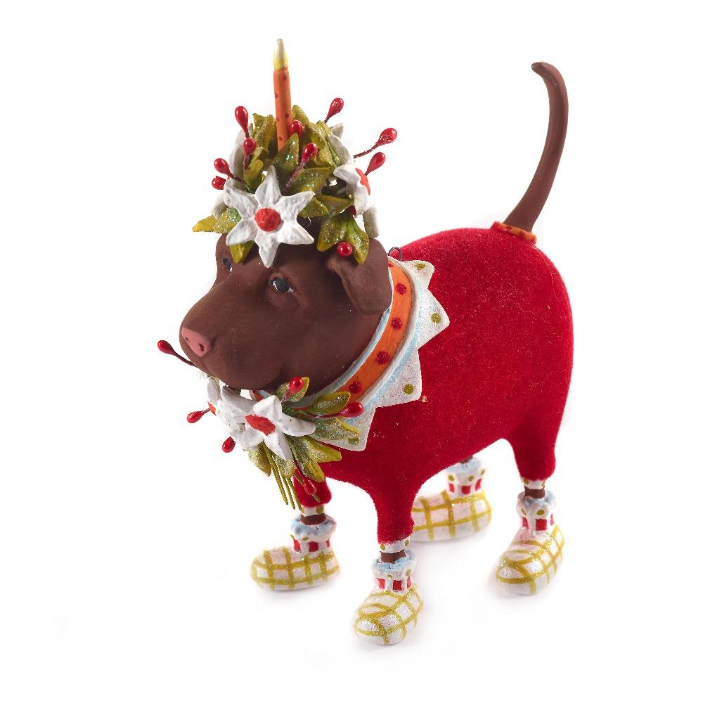 Lola Chocolate Lab Ornament - My Christmas