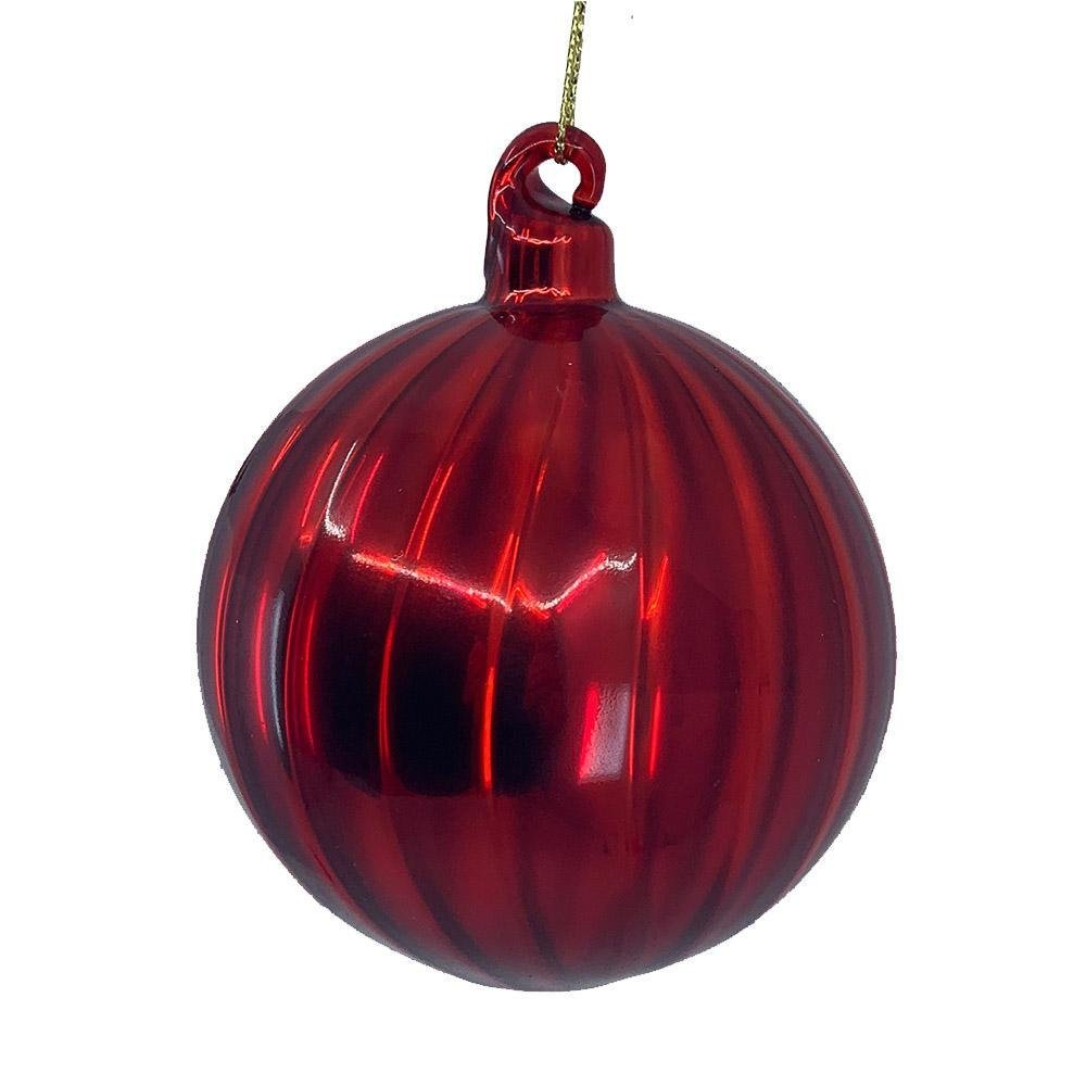 Lustre Red Ball Ornament - My Christmas