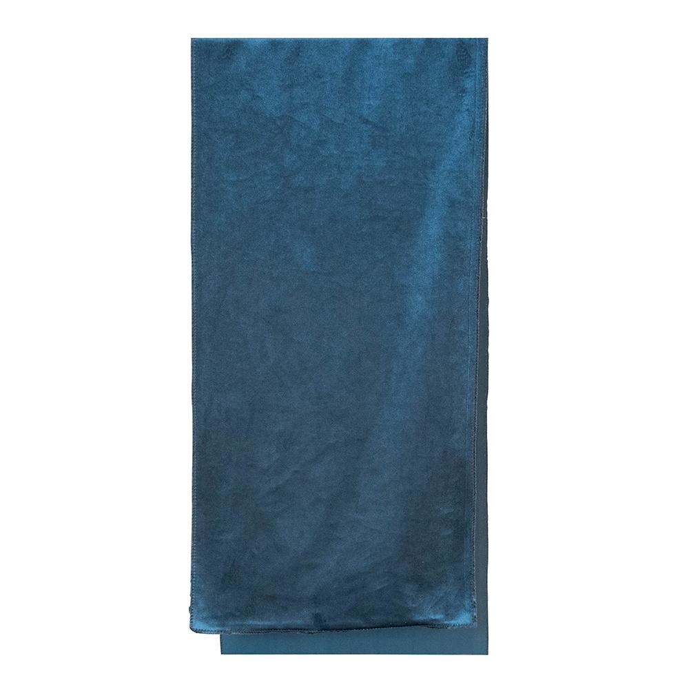 Luxury French Blue Velvet Table Runner - My Christmas
