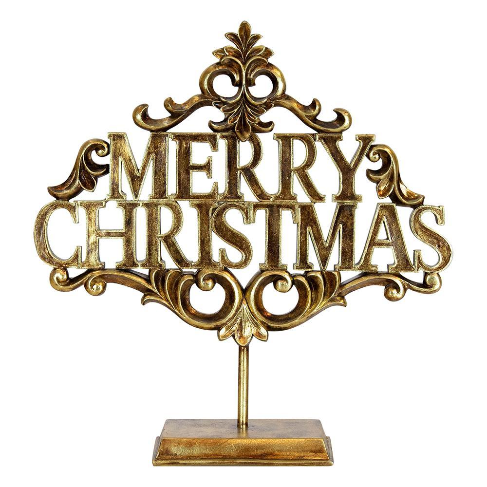 """MERRY CHRISTMAS' Gold Sign - My Christmas"