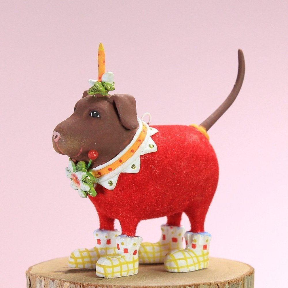 Mini Lola Lab Ornament - My Christmas