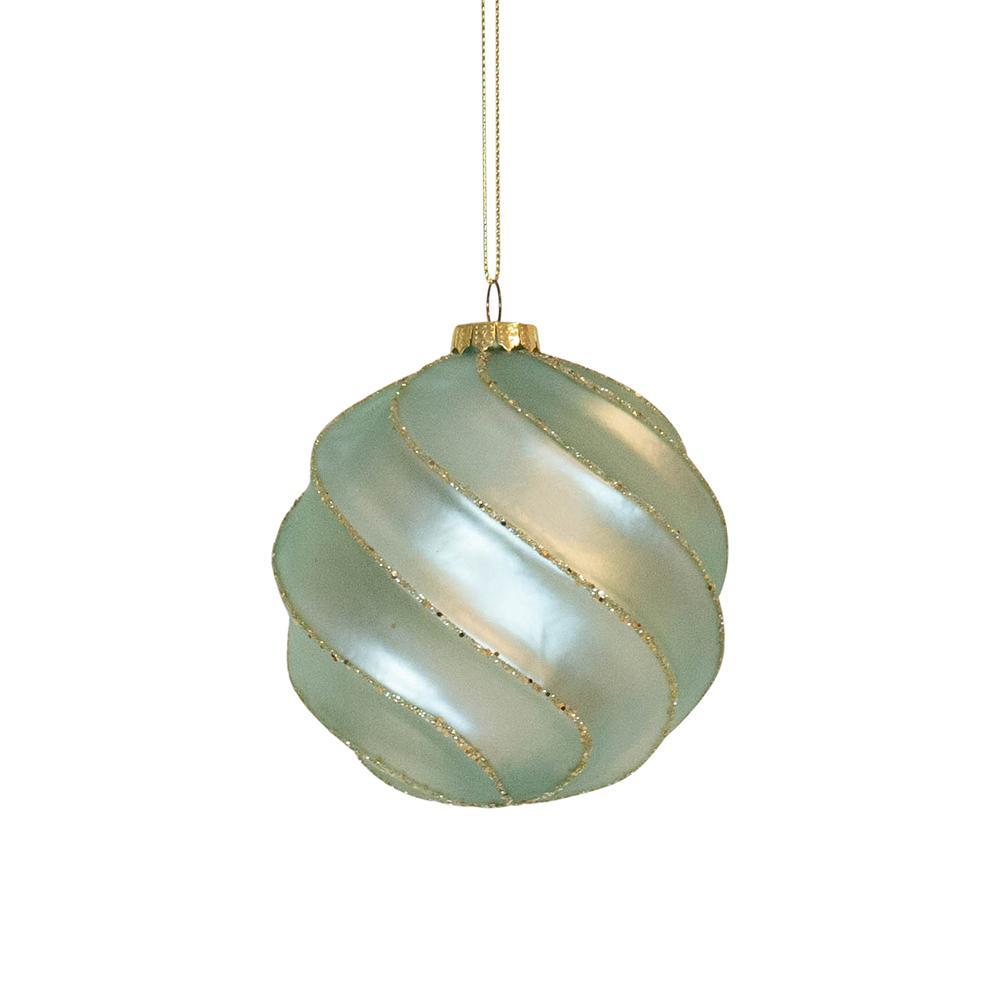Mint Swirl Bauble - My Christmas
