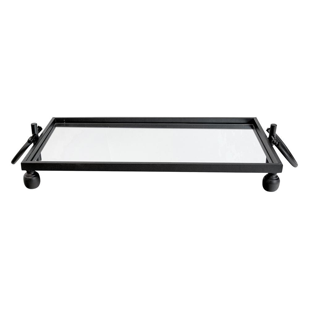Mirrored Tray with Black Trim - My Christmas