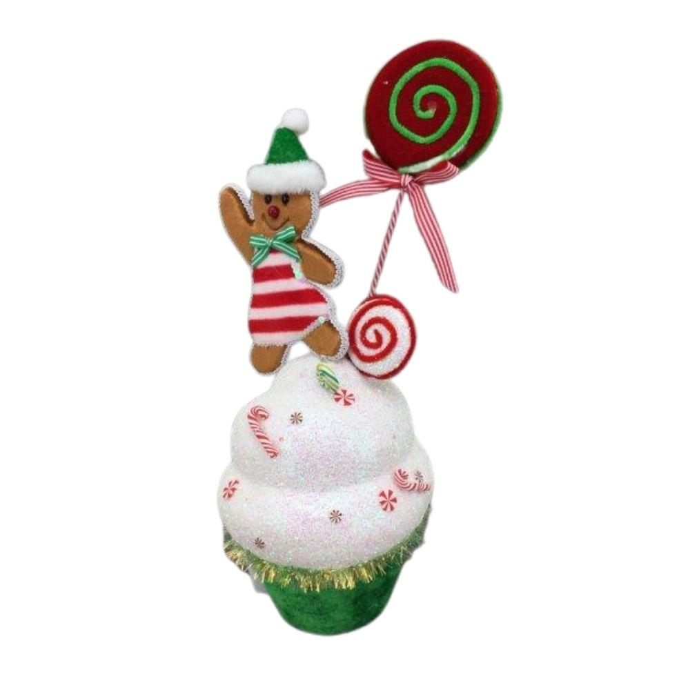 Mrs Ginger Candy Cupcake - My Christmas