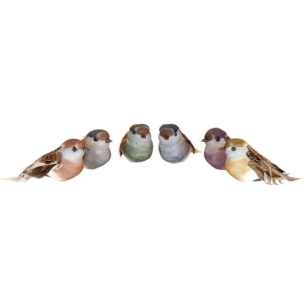Natural Woodland Clip On Birds, Assorted - My Christmas