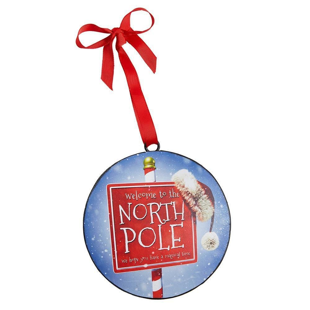 North Pole Hanging Disc Ornament - My Christmas