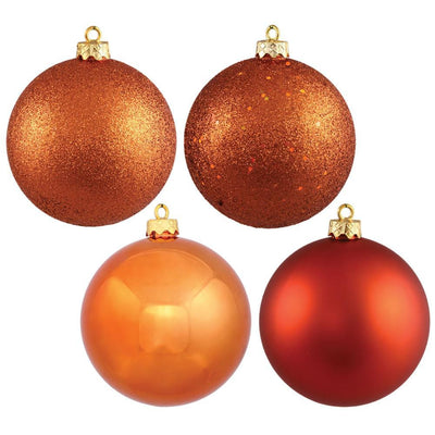 Orange Baubles, Various Sizes - My Christmas