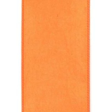 Orange Taffeta Ribbon - My Christmas