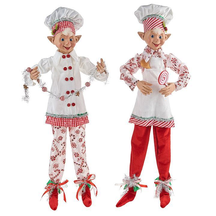 Peppermint Posable Elf, 75cm - My Christmas