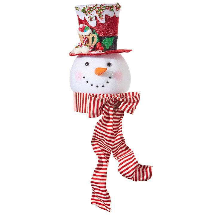 Peppermint Snowman Head - My Christmas