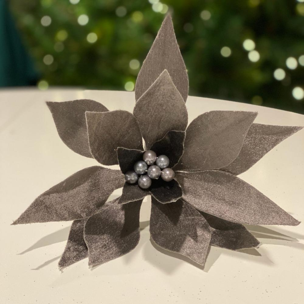 Pewter Poinsettia - My Christmas