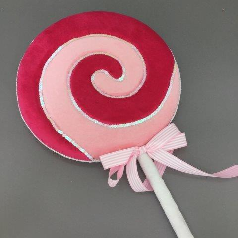 Pink and Red Lollipop Pick - My Christmas