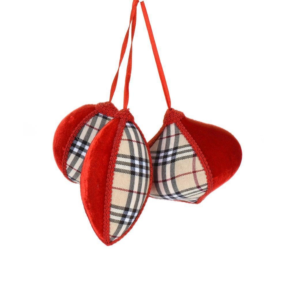 Plaid Hanging Ornament - My Christmas