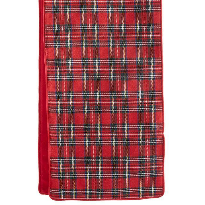 Plaid Table Runner, 1.82m - My Christmas