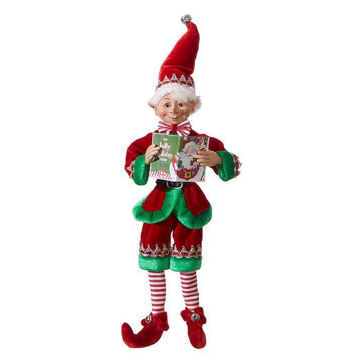 Posable 'Jolly Holiday' Elf, 40cm - My Christmas