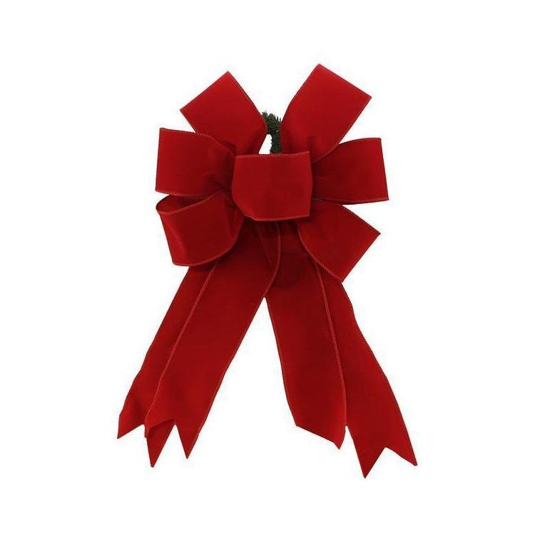 Pre-made Red Velvet Bow - My Christmas