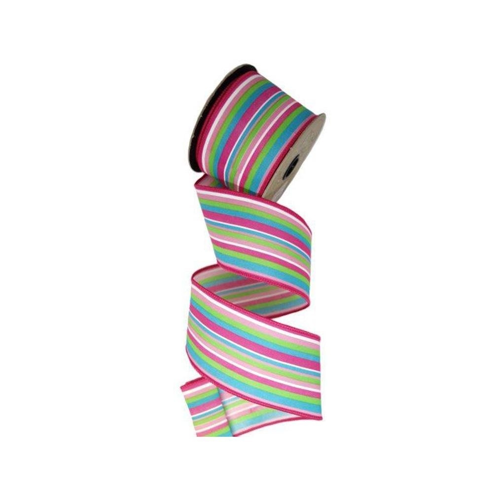 Raindow Striped Ribbon - My Christmas