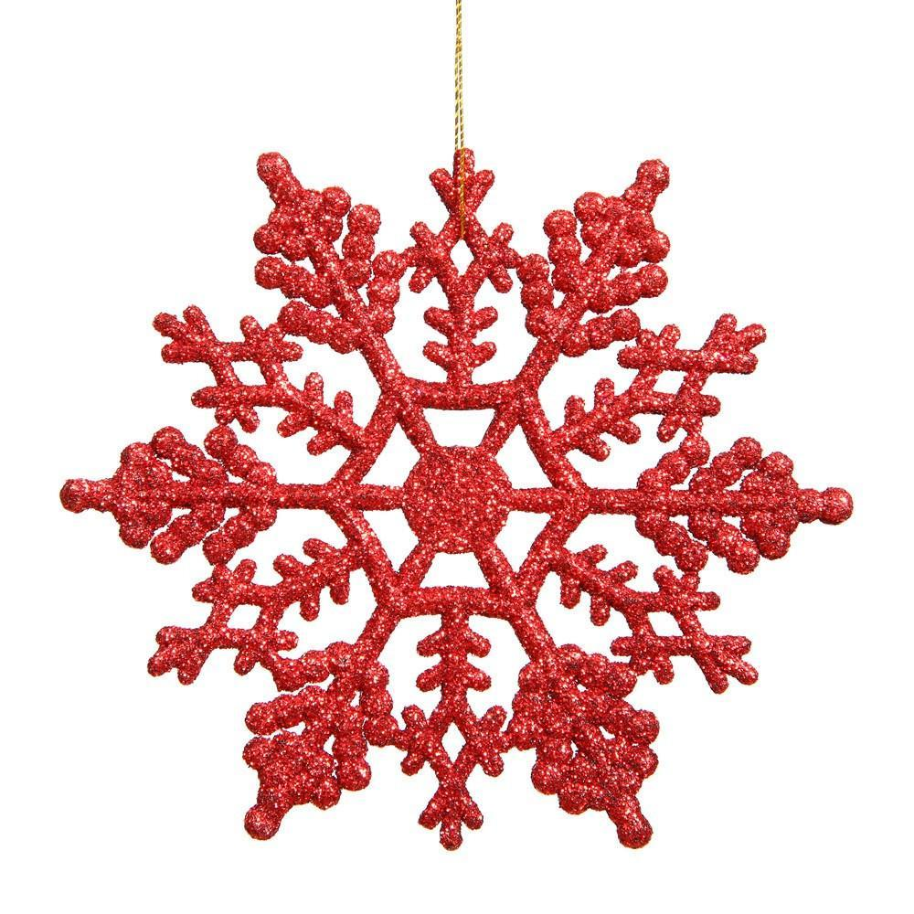 Red 16cm Snowflake, Pkt 12 - My Christmas